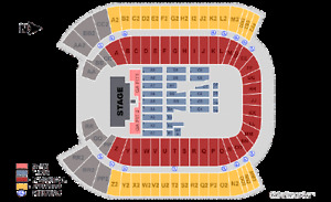 2 Guns N' Roses Floor Seats