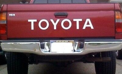 TOYOTA TAILGATE  Vinyl Decal Sticker Emblem Logo Graphic WHITE Lettering Vehicle