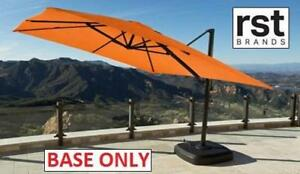 NEW RST RESORT UMBRELLA BASE OP-MKT10-PORII 199991005 PORTOFINO Swivel  W/ heavy duty retractable wheels
