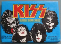 3 SEALED PACKS OF KISS 1978 TRADING CARDS + KISS tin