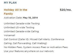 FS: Holiday All In A family WIND Mobile plan