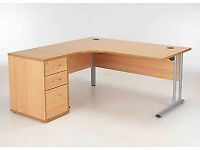 Quality office desk complete with chair and side storage unit