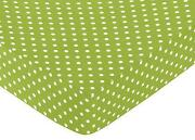 Green Fitted Crib Sheet