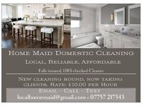 Domestic Cleaner in Goole & Howden, insured & police checked
