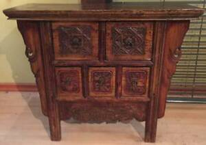 ANTIQUE CHINESE FIVE DRAWER CABINET