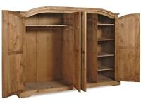 New Solid Corona Mexican Pine Wardrobes in 5 styles FROM £149 GET IT TODAY