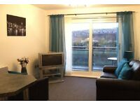 1 bed river-side apartment (i-Pad), fully furnished with undercover parking, no fees, low bond