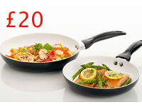 2 Piece Ceramic Frying Pans