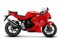 New 2012 Hyosung GT250R Black or Red ALL-IN PRICE  $3599 + HST.