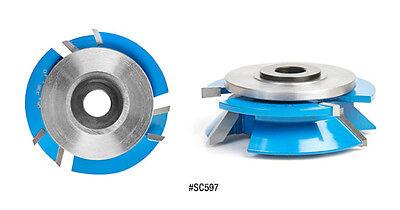 Amana Reversible Bevel Shaker Stilerail Shaper Cutter Set 45 Degree