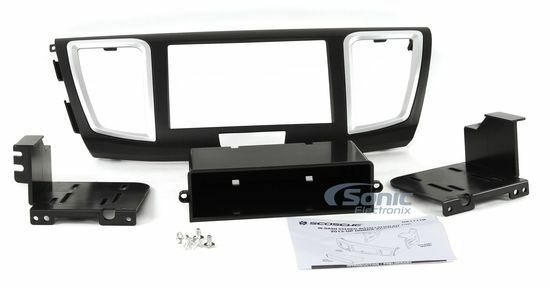 Scosche HA1717B Single/Double Din Car Install Kit with Pocket for 2013-Up Honda