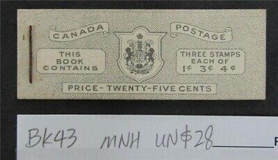 nystamps Canada Stamp # BK43 Mint OG NH UN$28   L16y3178
