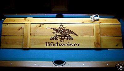 "New Budweiser Pool Table Poker Wood Billiards Light 52"""