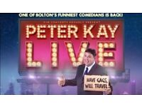 Peter Kay Live Tour Tickets Manchester 25th June 2018 FRONT Block B Row C