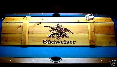New  Budweiser Pool Table Light & Cue Rack Combo !!!