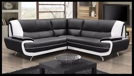 LARGE SOFAS = PALERMOR A NEW ITALIAN DESIGN FAUX LEATHER 3+2 SEATER OR CORNER SOFA SET HIGH QUALITY