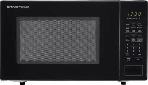 Sharp SMC1441CB Countertop Microwave Oven 1.4 cu ft  WHILE S
