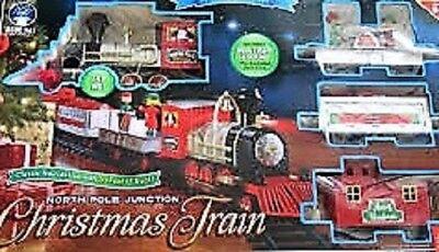 Blue Hat North Pole Junction 35 piece Christmas Train Set