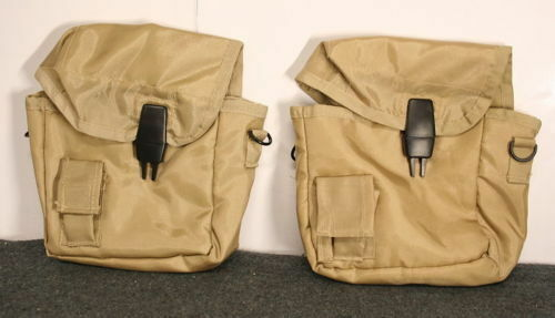 2 Military Army Type 2 QUART DESERT TAN CANTEEN COVER 2qt w/ CLIPS NEW