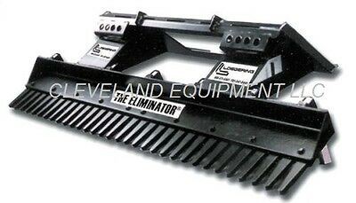 42 Eliminator Landscape Rake Attachment Ramrod Kanga Mini Skid-steer Scarifier