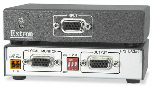 Lot of 2 Extron P/2 DA2xi One Input Two Output VGA Distribution Amplifier W/VGA
