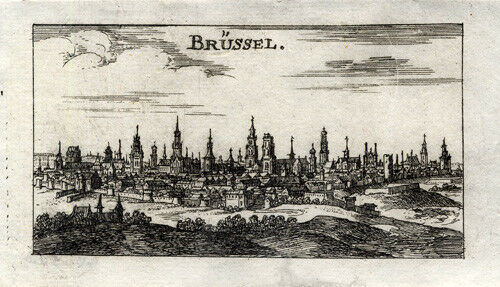 Antique Print-BRUSSELS-BELGIUM-Riegel-1691