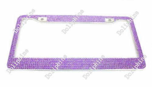 Purple License Plate Frame Ebay