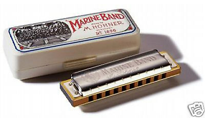 Hohner Marine Band 1896 Harmonica In D W Hohner Warranty   Free Online Lessons