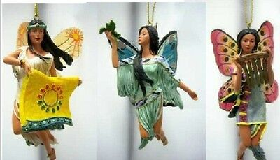 Spirit of the Butterfly Fairy Ornament s Set 10 Native Fairy - Bradford Exchange