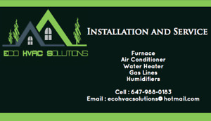 Furnaces, Air Conditioners, Water Heaters Install,
