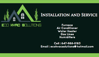 AC, FURNACE, WATER HEATERS, GAS LINES