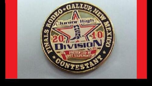 2010  Finals Rodeo  Jr High Contestant Gallup, NM   GIST Silversmith pin