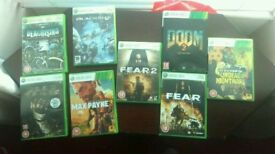 Xbox 360 games. 15 pounds for 8.