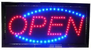 Electric  oval open sign light for store busines Bar Glendenning Blacktown Area Preview