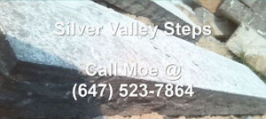 Silver Valley Steps Flamed Limestone Outdoor Step 4 5 6 7 8 Feet