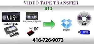 Transfer VHS to DVD / USB VHSC Mini DV. Video Dubbing. PAL NTSC