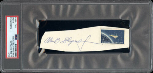 ALAN SHEPARD INK SIGNATURE (PSA/DNA AUTHENTICATED)