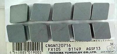 Toshiba Tungaloy CNGN120716 FX105 Ceramic-Silicon Nitride Inserts Qty.10 6801900
