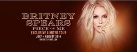 4 tickets Britney Spears SSE Hydro 22nd August 2018 fantastic block 7 seats can be delivered locally