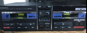 vintage Pioneer stereo double cassette tape deck