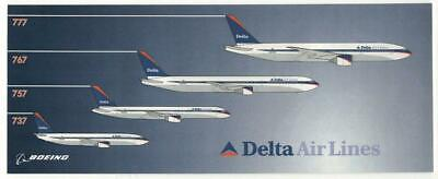 Delta Airlines Decal Sticker Promoting The 4 Boeing Jets 777 767 757 737 Flying - Jets Flying