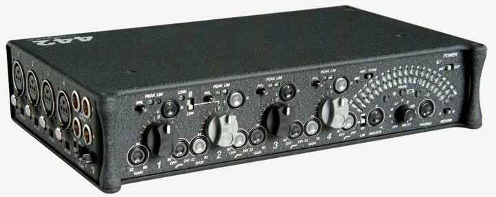 SOUND DEVICES 442 PRO COMPACT PORTABLE PRODUCTION FIELD MIXER  4 X 4 X 2  & CASE