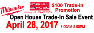 Milwaukee-Squares Hardware Open House Trade-in Sale Event