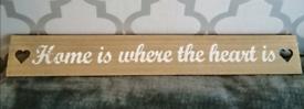 Lovely word art on wood