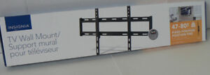 """Insignia 47"""" - 80"""" Fixed TV Wall Mount NS-HTVMF1703-C"""