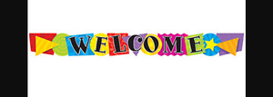 Shapes Welcome Banner Bulletin Board