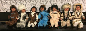 """14"""" Native and Inuit Dolls ($25 for each doll)"""