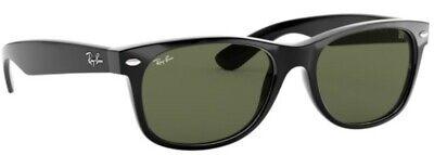 Ray-Ban Damen Herren Sonnenbrille RB2132 901 52mm New Wayfarer schwarz M5
