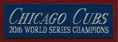 2016 CHICAGO CUBS NAMEPLATE FOR AUTOGRAPHED Signed Baseball Display CUBE CASE Chicago Cubs Baseball Cube