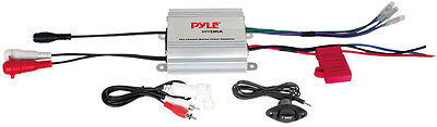 PYLE PLMRMP1A 2 Channel MP3/iPod Marine Power Amplifier/Amp Waterproof w/Remote on Rummage